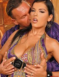 Big tits beauty Jasmine Black in creamy hardcore sex romp