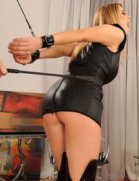 Young busty girls Katarina & LaTaya Roxx spanking each other
