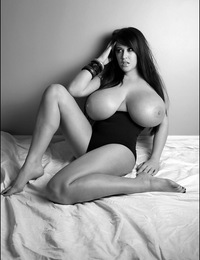 Leanne poses in noir style